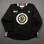 adidas<br>Black Practice Jersey w/ ORG Packaging Patch <br>Boston Bruins 2019-20<br> Size: 56