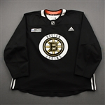 adidas<br>Black Practice Jersey w/ ORG Packaging Patch <br>Boston Bruins 2019-20<br> Size: 58