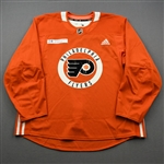 adidas<br>Orange Practice Jersey w/ Rothman Institute at Jefferson Health Patch<br>Philadelphia Flyers 2019-20<br>Size: 56