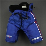 Carlson, John<br>Blue Third, Bauer Pants<br>Washington Capitals 2018-20<br>#74 Size: L + 1""