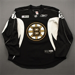 Abramson, Ori<br>Black Practice Jersey w/ ORG Packaging Patch - CLEARANCE<br>Boston Bruins 2017-18<br>#78 Size: 56