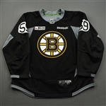 Berglund, Victor<br>Black Practice Jersey w/ ORG Packaging Patch - CLEARANCE<br>Boston Bruins 2017-18<br>#59 Size: 56