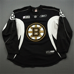 Bukac, Daniel<br>Black Practice Jersey w/ ORG Packaging Patch - CLEARANCE<br>Boston Bruins 2017-18<br>#82 Size: 58