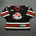 Moore, Barrie *<br>Black<br>Portland Pirates 1998-00<br>#18 Size: 56