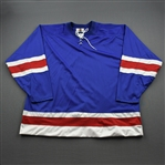 Blank - NNOB<br>Blue Starter Mesh Un-Crested Blank - CLEARANCE<br>New York Rangers <br> Size: 60