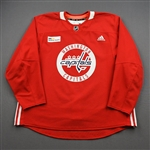 Albert, John<br>Red Practice Jersey w/ MedStar Health Patch - CLEARANCE<br>Washington Capitals <br>#16 Size: 58