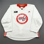 Albert, John<br>White Practice Jersey w/ MedStar Health Patch - CLEARANCE<br>Washington Capitals <br>#16 Size: 58
