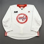 Baillargeon, Robbie<br>White Practice Jersey w/ MedStar Health Patch - CLEARANCE<br>Washington Capitals <br>#82 Size: 58