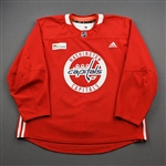 Barber, Riley<br>Red Practice Jersey w/ MedStar Health Patch - CLEARANCE<br>Washington Capitals <br>#24 Size: 58