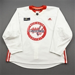 Beagle, Jay<br>White Practice Jersey w/ MedStar Health Patch - CLEARANCE<br>Washington Capitals <br>#83 Size: 58