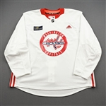 Besse, Grant<br>White Practice Jersey w/ MedStar Health Patch - CLEARANCE<br>Washington Capitals <br>#68 Size: 58
