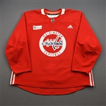 Bindulis, Kristofers<br>Red Practice Jersey w/ MedStar Health Patch - CLEARANCE<br>Washington Capitals <br>#84 Size: 58