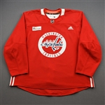 Bowey, Madison<br>Red Practice Jersey w/ MedStar Health Patch - CLEARANCE<br>Washington Capitals <br>#22 Size: 58