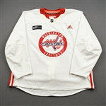Bowey, Madison<br>White Practice Jersey w/ MedStar Health Patch - CLEARANCE<br>Washington Capitals <br>#22 Size: 58