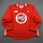 Burakovsky, Andre<br>Red Practice Jersey w/ MedStar Health Patch - CLEARANCE<br>Washington Capitals <br>#65 Size: 58