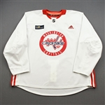 Burakovsky, Andre<br>White Practice Jersey w/ MedStar Health Patch - CLEARANCE<br>Washington Capitals <br>#65 Size: 58
