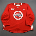 Burgdoerfer, Erik<br>Red Practice Jersey w/ MedStar Health Patch - CLEARANCE<br>Washington Capitals <br>#80 Size: 58