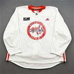 Burgdoerfer, Erik<br>White Practice Jersey w/ MedStar Health Patch - CLEARANCE<br>Washington Capitals <br>#80 Size: 58