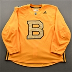 adidas<br>Gold - Winter Classic Practice Jersey - Game-Issued (GI)<br>Boston Bruins 2018-19<br> Size: 58