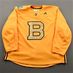 adidas<br>Gold - Winter Classic Practice Jersey - Game-Issued (GI)<br>Boston Bruins 2018-19<br> Size: 60