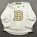 adidas<br>White - Winter Classic Practice Jersey - Game-Issued (GI)<br>Boston Bruins 2018-19<br> Size: 56
