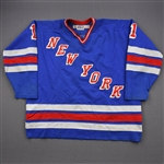 Hanlon, Greg *<br>Blue<br>New York Rangers 1983-84<br>#1 Size: 56