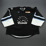Flagg, Caty<br>Black Lake Placid Set w/ Isobel Cup & End Racism Patch<br>Buffalo Beauts 2020-21<br>#1 Size: XXL Goalie
