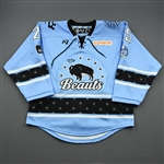 Lewicki, Kristin<br>Blue Lake Placid Set w/ Isobel Cup & End Racism Patch<br>Buffalo Beauts 2020-21<br>#25 Size:  MD