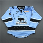 Chesson, Lisa<br>Blue Lake Placid Set w/ Isobel Cup & End Racism Patch<br>Buffalo Beauts 2020-21<br>#11 Size:  MD