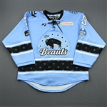 Delay, Megan<br>Blue Lake Placid Set w/ Isobel Cup & End Racism Patch<br>Buffalo Beauts 2020-21<br>#3 Size:  MD