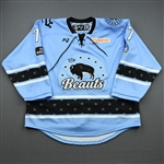 Dove, Whitney<br>Blue Lake Placid Set w/ Isobel Cup & End Racism Patch<br>Buffalo Beauts 2020-21<br>#77 Size:  LG