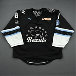 Gehen, Erin<br>Black Lake Placid Set w/ Isobel Cup & End Racism Patch<br>Buffalo Beauts 2020-21<br>#81 Size:  MD