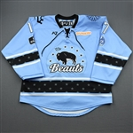 MacPherson, Cassidy<br>Blue Lake Placid Set w/ Isobel Cup & End Racism Patch<br>Buffalo Beauts 2020-21<br>#17 Size:  LG