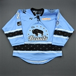 Meneghin, Kayla<br>Blue Lake Placid Set w/ Isobel Cup & End Racism Patch<br>Buffalo Beauts 2020-21<br>#21 Size:  MD