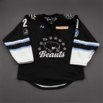 Meneghin, Kayla<br>Black Lake Placid Set w/ Isobel Cup & End Racism Patch<br>Buffalo Beauts 2020-21<br>#21 Size:  MD