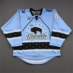 NNOB (No Name on Back), <br>Blue (Game-Issued)<br>Buffalo Beauts 2020-21<br>#18 Size:  SM