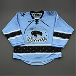 NNOB (No Name on Back), <br>Blue (Game-Issued)<br>Buffalo Beauts 2020-21<br>#2 Size:  MD