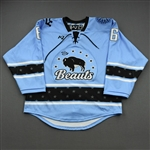 NNOB (No Name on Back), <br>Blue (Game-Issued)<br>Buffalo Beauts 2020-21<br>#6 Size:  MD
