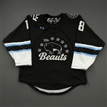 NNOB (No Name on Back), <br>Black (Game-Issued)<br>Buffalo Beauts 2020-21<br>#18 Size:  SM