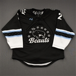 NNOB (No Name on Back), <br>Black (Game-Issued)<br>Buffalo Beauts 2020-21<br>#2 Size:  MD
