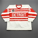 Primeau, Keith *<br>White - Turn Back the Clock w/ NHL 75th Patch - Photo-Matched<br>Detroit Red Wings 1991-92<br>#55 Size: N/A