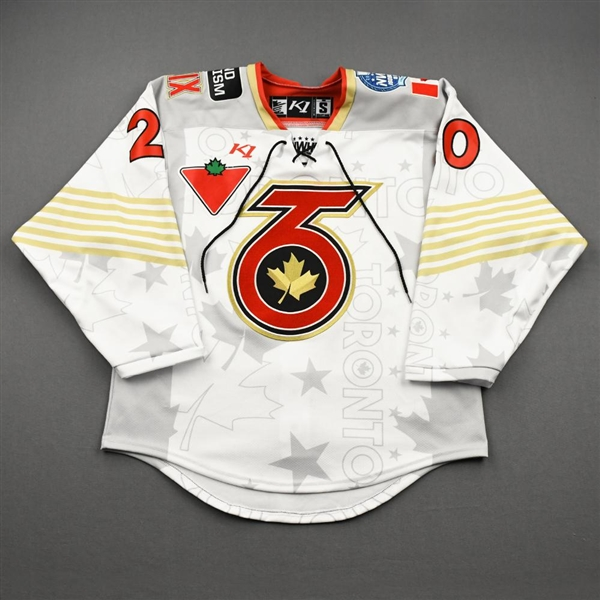 Barbara, Kristen<br>White Lake Placid Set w/ Isobel Cup & End Racism Patch<br>Toronto Six 2020-21<br>#20 Size:  SM