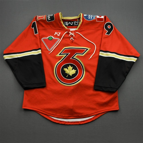 Boquist, Brooke<br>Red Lake Placid & Playoffs Set w/ Isobel Cup & End Racism Patch<br>Toronto Six 2020-21<br>#19 Size:  MD