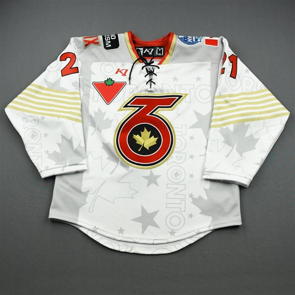 Curlew, Amy<br>White Lake Placid Set w/ Isobel Cup & End Racism Patch<br>Toronto Six 2020-21<br>#21 Size:  MD