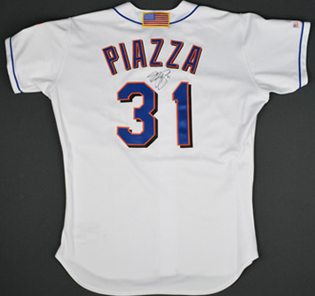 Mike Piazza 9/11 Game Jersey